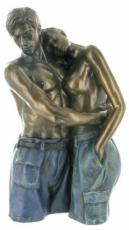Loving Thoughts Coloured Cold Cast Bronze Sculpture by Love Is Blue