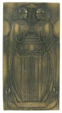 Mackintosh Style, Cold Cast Bronze Wall Plaque by Beauchamp Bronze