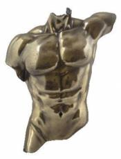 Male Torso Cold Cast Bronze Wall Plaque