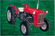 Massey Ferguson Tractor Ceramic Picture Tile by Kandy 8