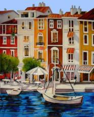 Mediterranean Waterfront 2 Ceramic Picture Tile by Brent Heighton 11