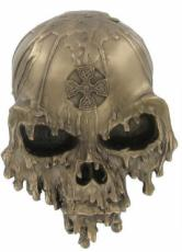 Melt Down Skull Wall Plaque
