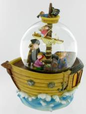 Mice On A Pirate Ship Glitter Globe