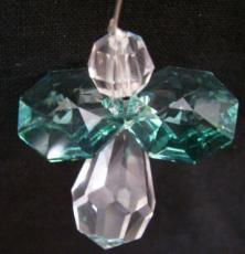 Mini Crystal Angel with Green Wings