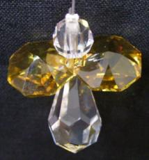 Mini Crystal Angel with Yellow Wings