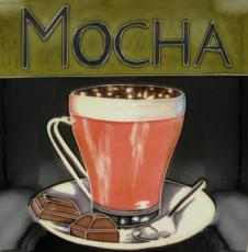 Mocha Ceramic Picture Tile by Kandy 12