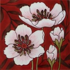 Modern Poppy 2 Ceramic Picture Tile by Melissa Pluch 12