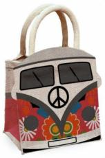 Moonflower Camper Van Jute Bag