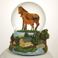 Mother & Baby Horse Waterglobe