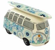 Ocean Blue Camper Van Money Box