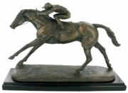 On The Flat Cold Cast Bronze Horse Sculpture by Harriet Glen