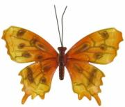 Orange Butterfly, Metal Decor x6