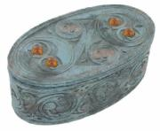 Oval Box with Amber Crystal