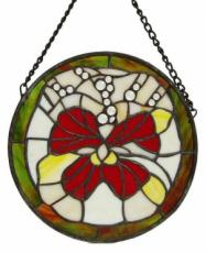 Pansy Circle, Stained Glass Panel
