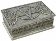 Pentagram Box in Cold Cast Pewter