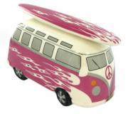 Pink Coral Camper Van Money Box