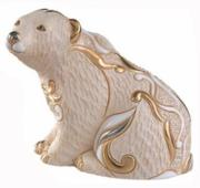 Polar Bear Sitting, Families Collection Figurine by De Rosa