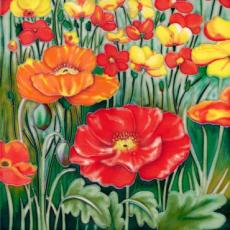 Poppy Fields Ceramic Picture Tile by Tiffany Budd 8