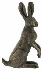 Poppy Standing Hare Cold Cast Bronze Sculpture by Harriet Glen