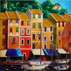 Portofino Colours Ceramic Picture Tile by Michael O'Toole 12