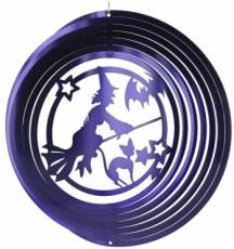 Purple Witch Stainless Steel Wind Spinner