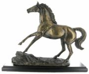 Rearing Stallion Cold Cast Bronze Sculpture by Harriet Glen