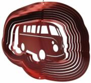 Red Campervan Stainless Steel Wind Spinner