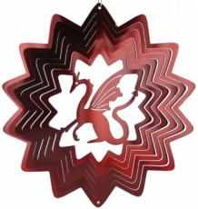 Red Dragon Stainless Steel Wind Spinner
