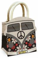 Retro Groove Camper Van Jute Bag