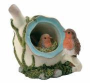 Robins in Teapot