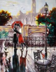 Romantic Embrace Ceramic Picture Tile by Brent Heighton 11
