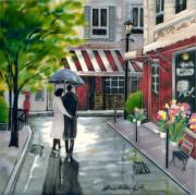 Romantic Stroll Ceramic Picture Tile by Brent Heighton 12