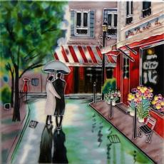 Romantic Stroll Ceramic Picture Tile by Brent Heighton 8