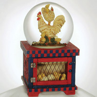 Rooster Family Waterglobe