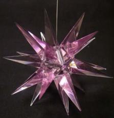 Rose Crystal Morovian Star