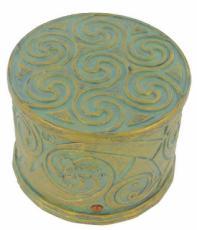 Round Circle Box with Amber Crystals