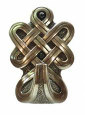 Rounded Celtic Large Hook in Bronze Finish by Design Clinic