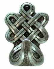 Rounded Celtic Large Hook in Silver Finish by Design Clinic