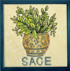 Sage Ceramic Picture Tile 8