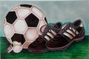 Saturday League Football Ceramic Picture Tile by Tiffany Budd 8