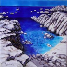Seascape Ceramic Picture Tile By Steve Thoms 12