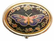 Set of 3 Oval Butterfly Pill Boxes