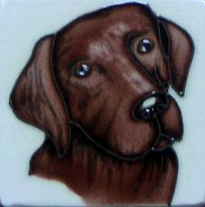 Set of 4 Chocolate Labrador Fridge Magnets