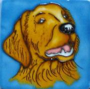 Set of 4 Golden Retriever Fridge Magnets