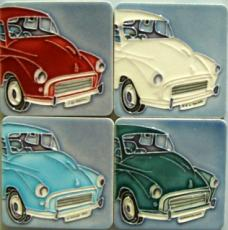 Set of 4 Morris Minor Fridge Magnets