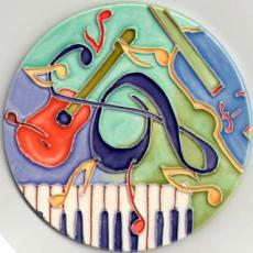Set of 4 Music Coasters by Penny Gaj