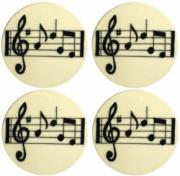 Set of 4 Music Notes Coasters