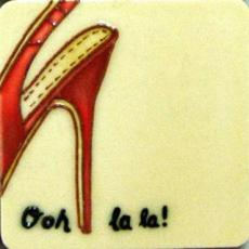 Set of 4 Ooh La La Fridge Magnets