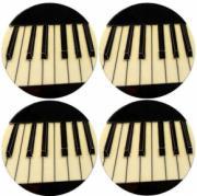 Set of 4 Piano Coasters