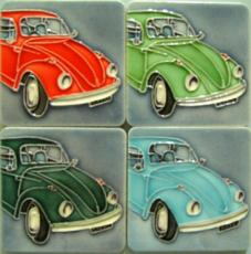 Set of 4 Volkswagen (VW) Beetle Fridge Magnets
